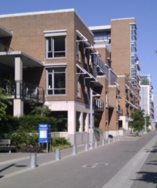 The streets of Olympic Village are neat and clean - not a motorbike in sight.