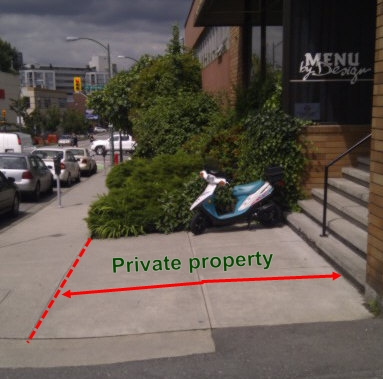 On private property in front of commercial building (Ask first!)