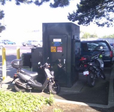 Free parking by transformer behind MTU at YVR.
