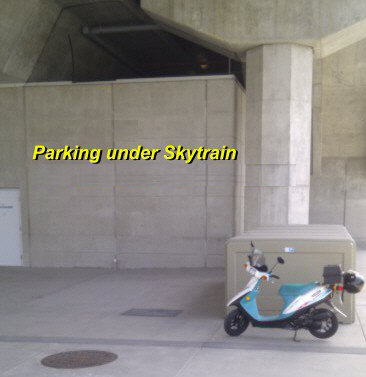 In some areas, the space under Skytrain is private property - available for free parking.  Best to do your homework first, but it